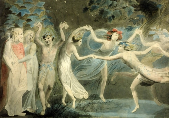 Oberon, Titania, and Puck With Fairies Dancing by William Blake