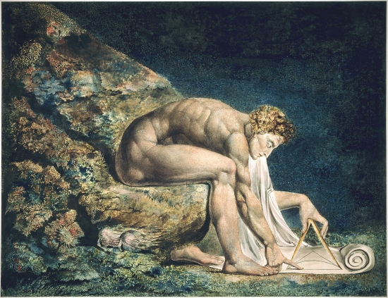 William Blake's painting of Isaac Newton